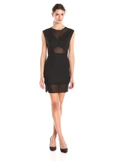 French Connection Women's Glass Stretch Cap Sleeve Dress