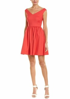 French Connection Women's Glass Stretch Structured Dress Azalea Bardot FIT Flare
