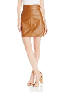 French Connection Women's Goldenburg Leather Skirt  4