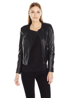 French Connection Women's Gough Leather Jacket