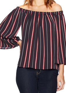 French Connection Women's Hasan Stripe Blouse  M