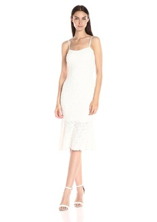 French Connection Women's Havana Lace Strappy Midi Dress