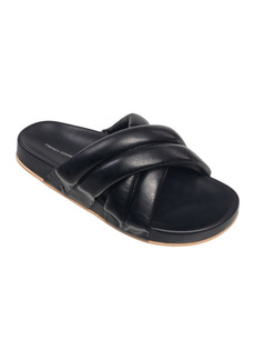 French Connection Women's Hayden Criss Cross Footbed Slide Sandals Women's Shoes