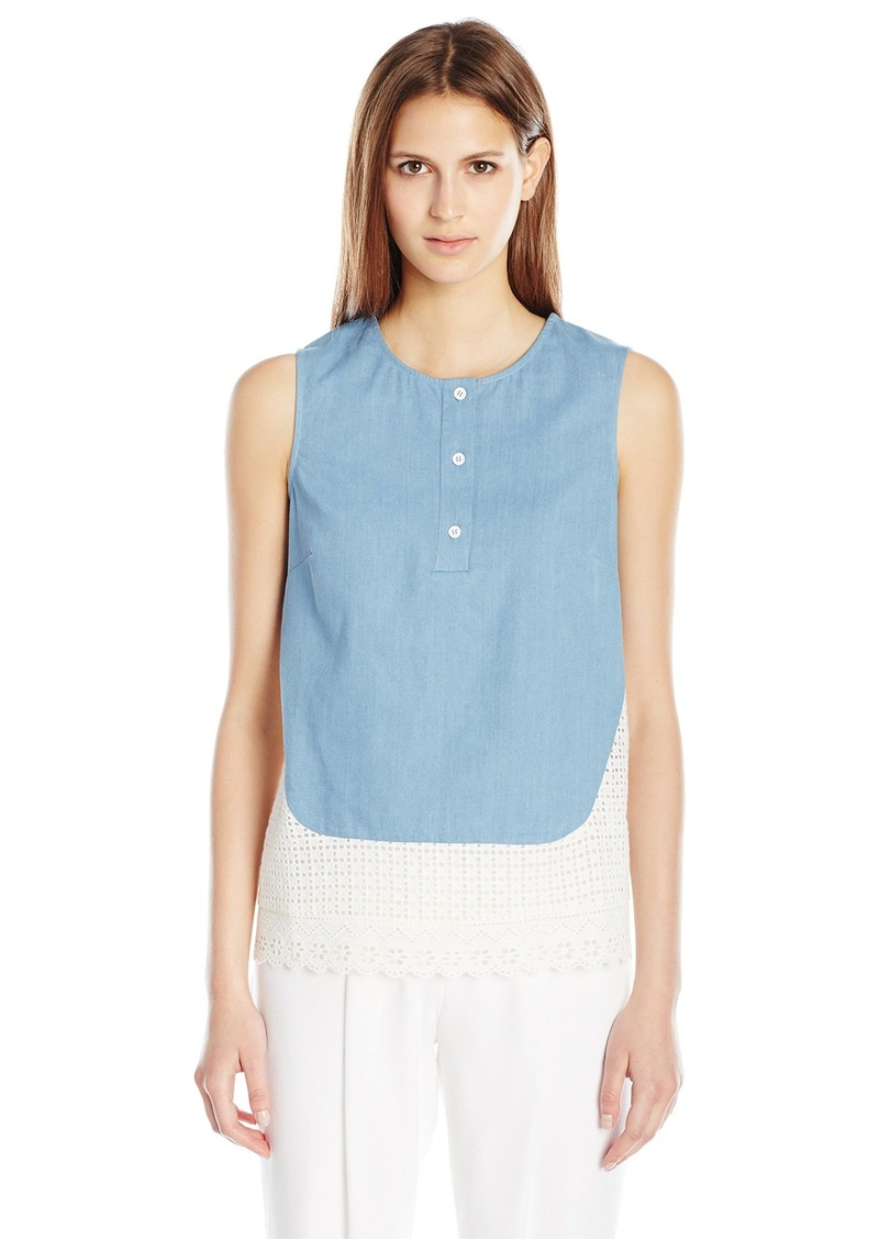 French Connection Women's Holiday Lace Sleeveless Top