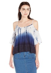 French Connection Women's Holiday Wave Cut Out Shoulder Top