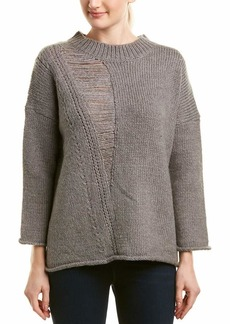 French Connection Women's Isabelle Knit Ripped Sweater  L