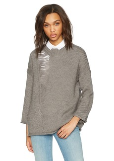 French Connection Women's Isabelle Knit Ripped Sweater  S