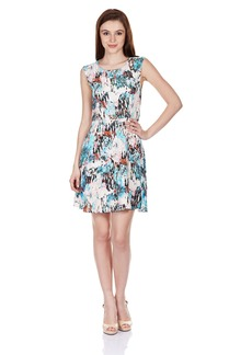French Connection Women's Isla Ripple Printed Fit and Flare Dress