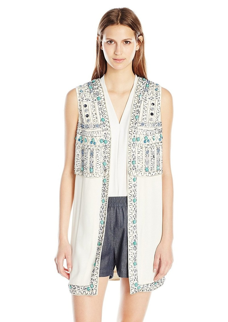 French Connection Women's Island Maze Beaded Vest
