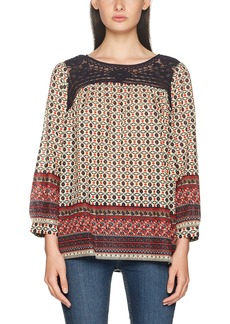French Connection Women's Ity Lace Mix Top L