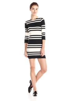 French Connection Women's Jag Stripe 3/4 Sleeve Dress