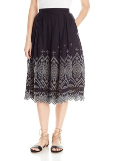 French Connection Women's Josephine Cotton Midi Skirt