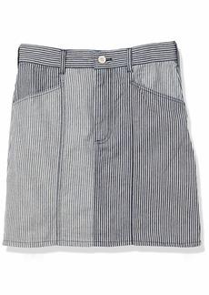 French Connection Women's Laos Two Tone Denim Jean Mini Skirt Classic Blue/Summer White