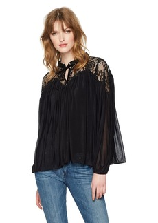 French Connection Women's Lassia Lace Flowy Top  L