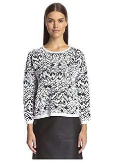 French Connection Women's Leopard oth Jumper