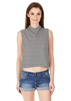 French Connection Women's Licorice Lines Top  X-Small