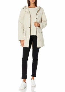 French Connection Women's Light Weight Hooded Cotton Anorak Jacket