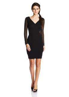 French Connection Women's Liv Jersey Long Sleeve Bodycon Dress