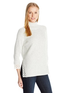 French Connection Women's Lola Lace Knits Sweater  L