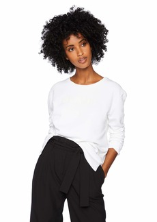 French Connection Women's Longsleeve Graphic Sweatshirt White L