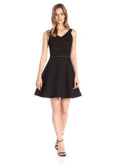 French Connection Women's Lula Stretch Fit and Flare Dress