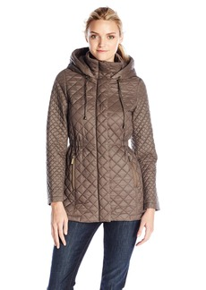 French Connection Women's arykate Quilted Jacket with Hood  edium