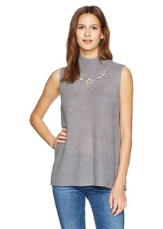 French Connection Women's Mathilde Mockneck Knits Sleeveless Sweater  L