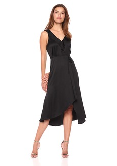 French Connection Women's Maudie Drape Frill Sleeveless Dress