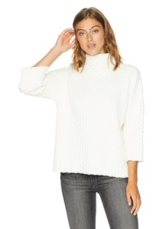 French Connection Women's Millie Mozart Solid Knits Cotton Sweaters Winter Soft WHI M