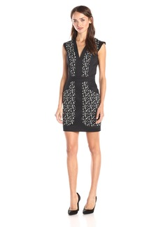 French Connection Women's Mini Brushstroke S/Less Dress