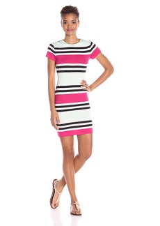 French Connection Women's Multi Jag Short Sleeve Dress