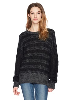 French Connection Women's Nordic Knit Sweater Charcoal Grey Melange S