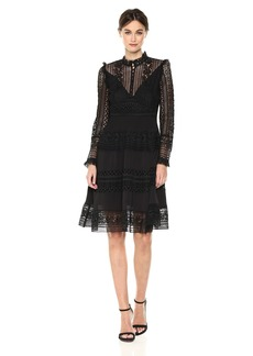 French Connection Women's Orabelle Lace Long Sleeve Flared Dress