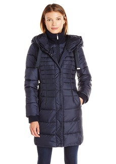 French Connection Women's Oversized Hooded Down Coat  L