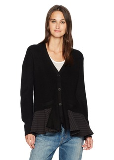 French Connection Women's Pin Stripe Knits Cardigan  L
