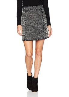 French Connection Women's Pixel Mix Cotton Skirt
