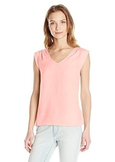 French Connection Women's Polly Plains Capsleeve V-Neck Top