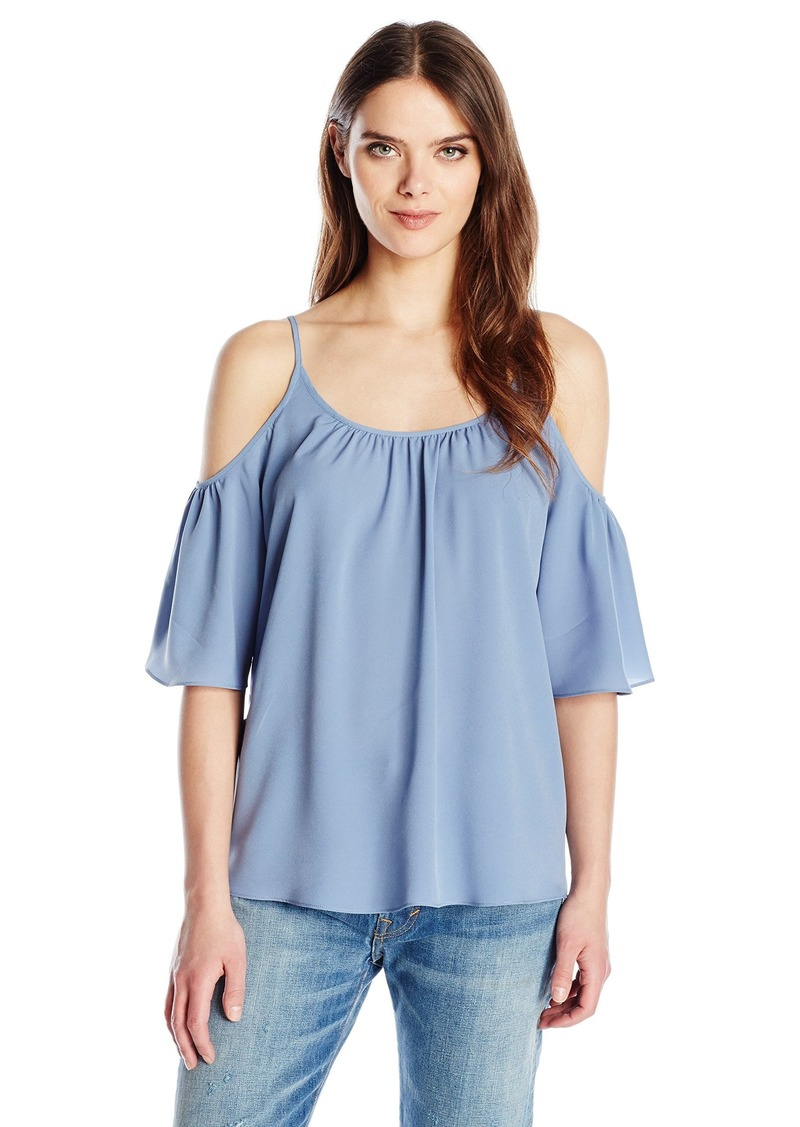 French Connection Women's Polly Plains Cold Shoulder Blouse  M