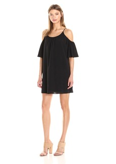 French Connection Women's Polly Plains Cold Shoulder Dress  M