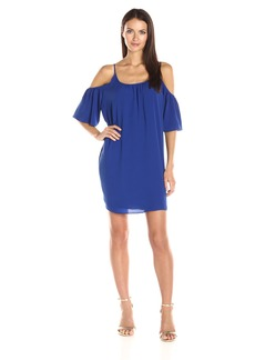 French Connection Women's Polly Plains Cold Shoulder Dress  XS