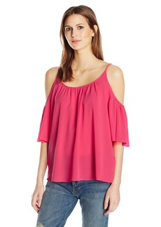 French Connection Women's Polly Plains Cold Shoulder Top  S