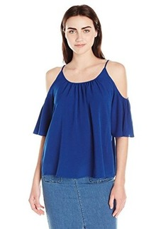 French Connection Women's Polly Plains Cut Out Shoulder Top