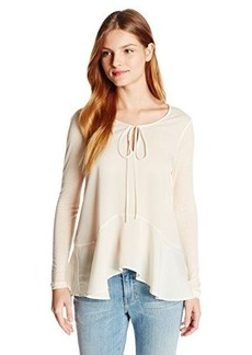French Connection Women's Polly Plains Flared Hem Top