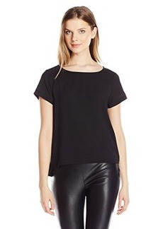 French Connection Women's Polly Plains Frill Side Top