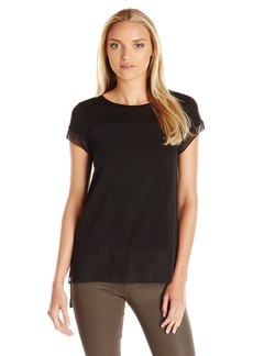 French Connection Women's Polly Plains Raw Edge Tee