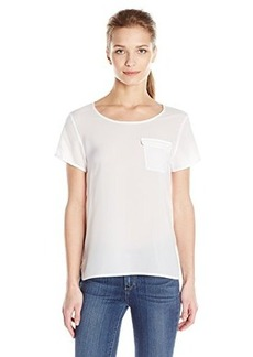 French Connection Women's Polly Plains Short Sleeve Pocket Top