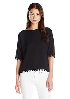 French Connection Women's Pom Pom Polly Top