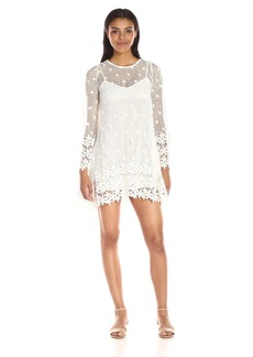 French Connection Women's Posy Lace Long-Sleeve Flared Dress
