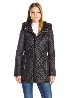 French Connection Women's Quilted Anorak with Hood  XL