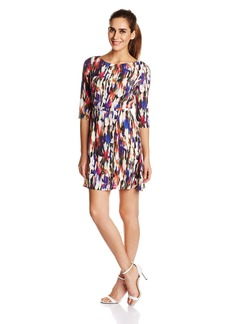 French Connection Women's Record Ripple Printed Dress